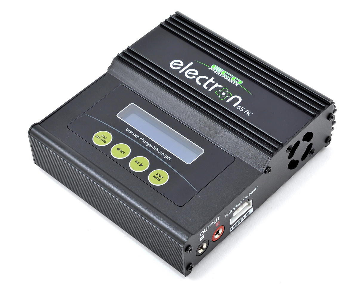 """Electron 65 AC"" LiPo/LiFe/NiMH AC/DC Battery Charger (6S/5A/50W) by EcoPower"