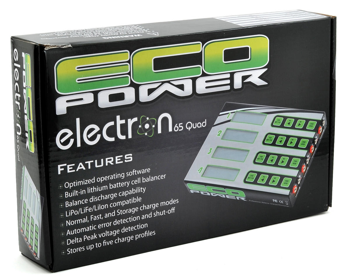 "EcoPower ""Electron 65 Quad"" LiPo/LiFe/NiMH DC Battery Charger (6S/5A/50W x 4)"