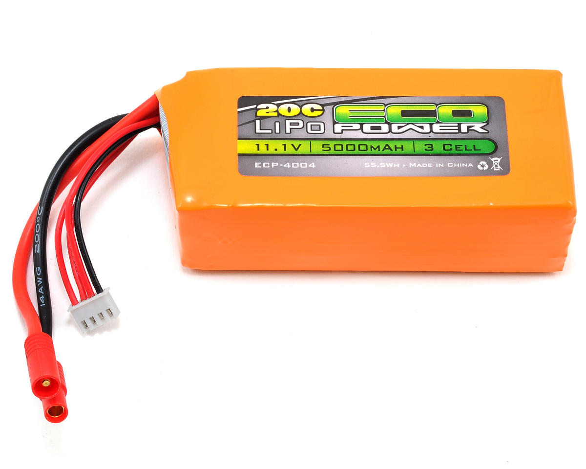 EcoPower Electron 3S 20C LiPo Battery (11.1V/5000mAh) (Walkera QR X350 Pro)