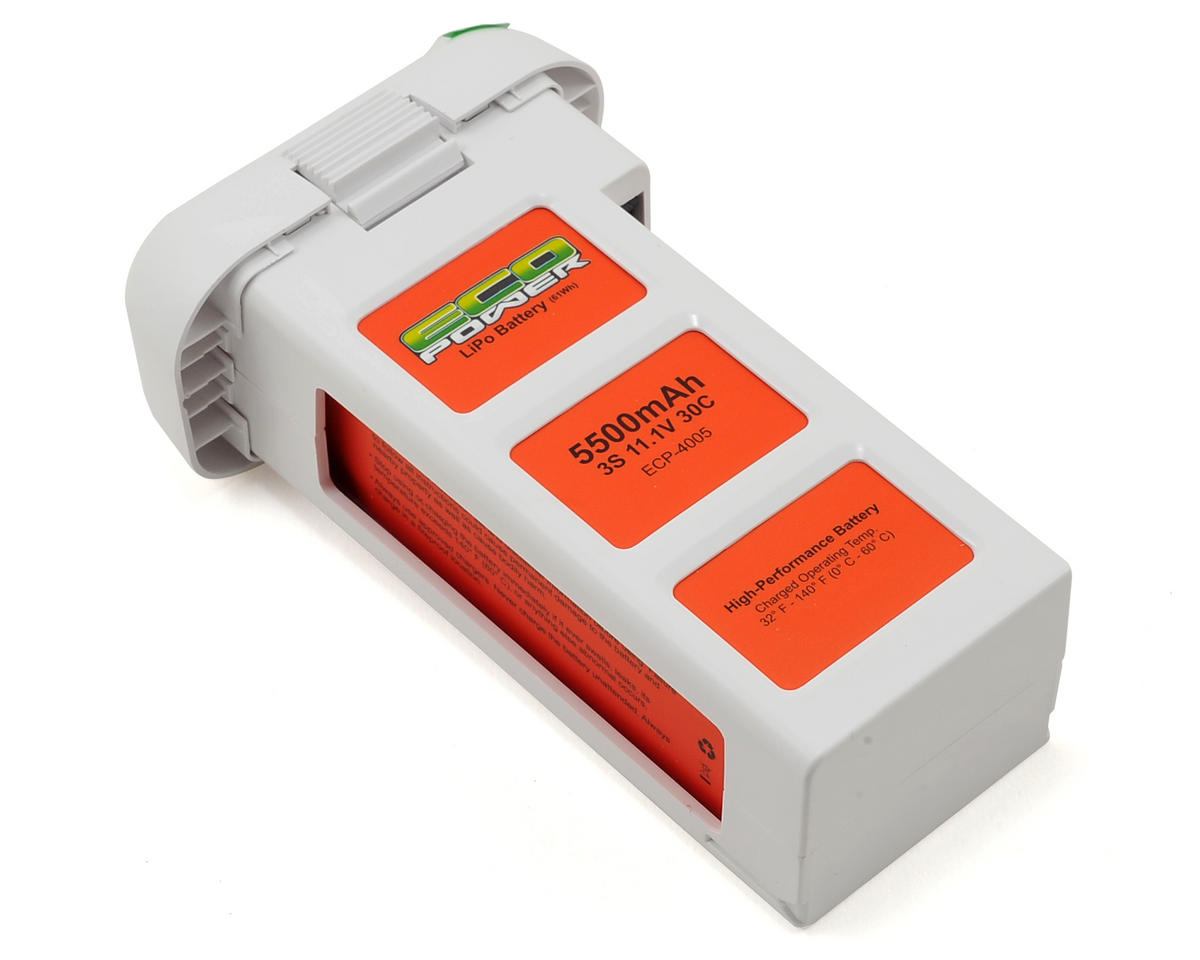 EcoPower Electron 3S 30C X-Capacity LiPo Battery (11.1V/5500mAh) (DJI Phantom 2)