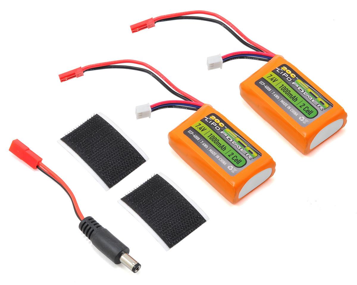 EcoPower FPV FatShark Goggle Battery Combo (7.4V/1000mAh)