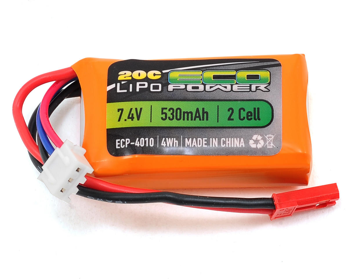 """Electron"" 2S LiPo 20C Battery Pack (7.4V/530mAh) by EcoPower"
