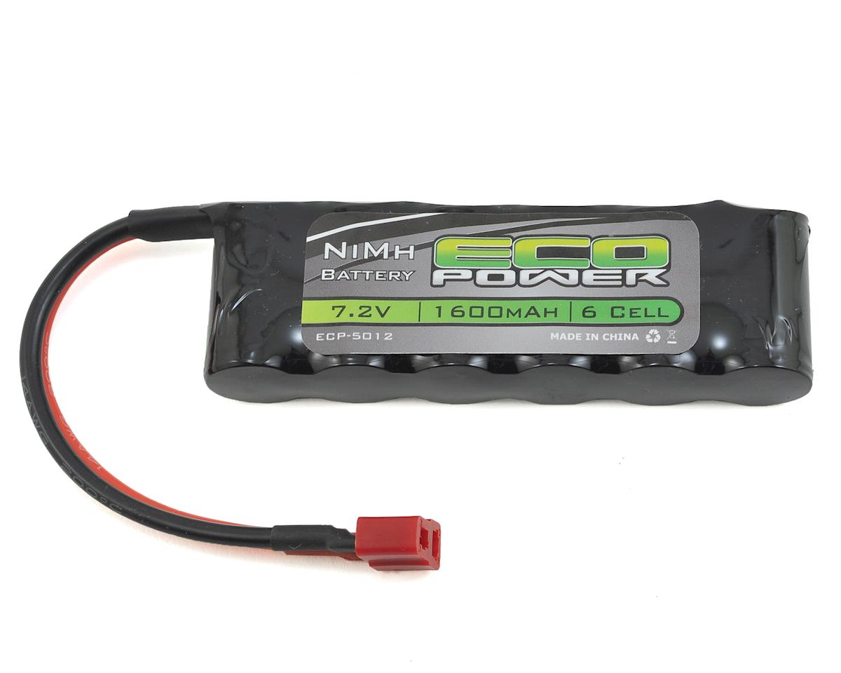 EcoPower 6-Cell NiMH Flat Battery Pack w/T-Style Connector (7.2V/1600mAh)