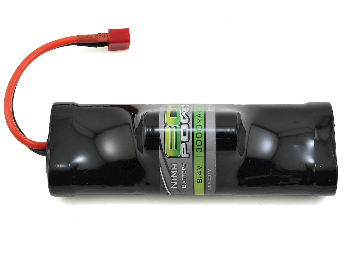 EcoPower 7-Cell NiMH Hump Battery Pack w/T-Style Connector (8.4V/3000mAh) (Helion Conquest 10B XLR)