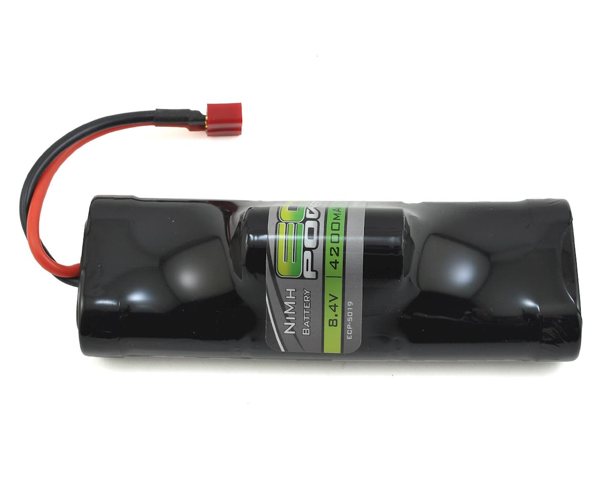 EcoPower 7-Cell NiMH Hump Battery Pack w/T-Style Connector (8.4V/4200mAh) (Helion Conquest 10B XLR)