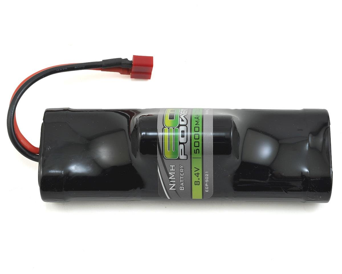EcoPower 7-Cell NiMH Hump Battery Pack w/T-Style Connector (8.4V/5000mAh) (Helion Conquest 10B XLR)