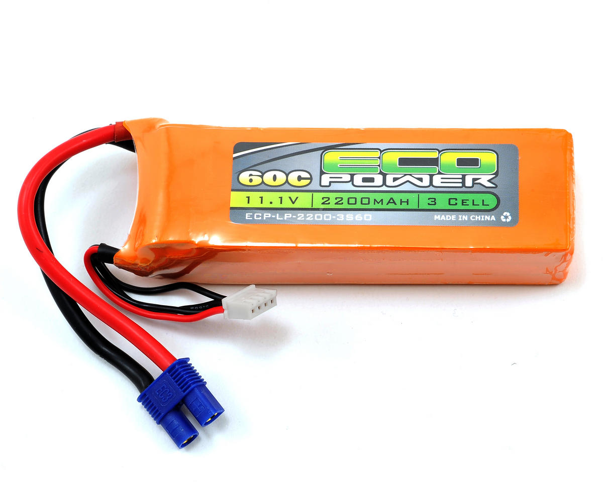 "EcoPower ""Electron"" 3S LiPo 60C Battery Pack w/EC3 Connector (11.1V/2200mAh)"