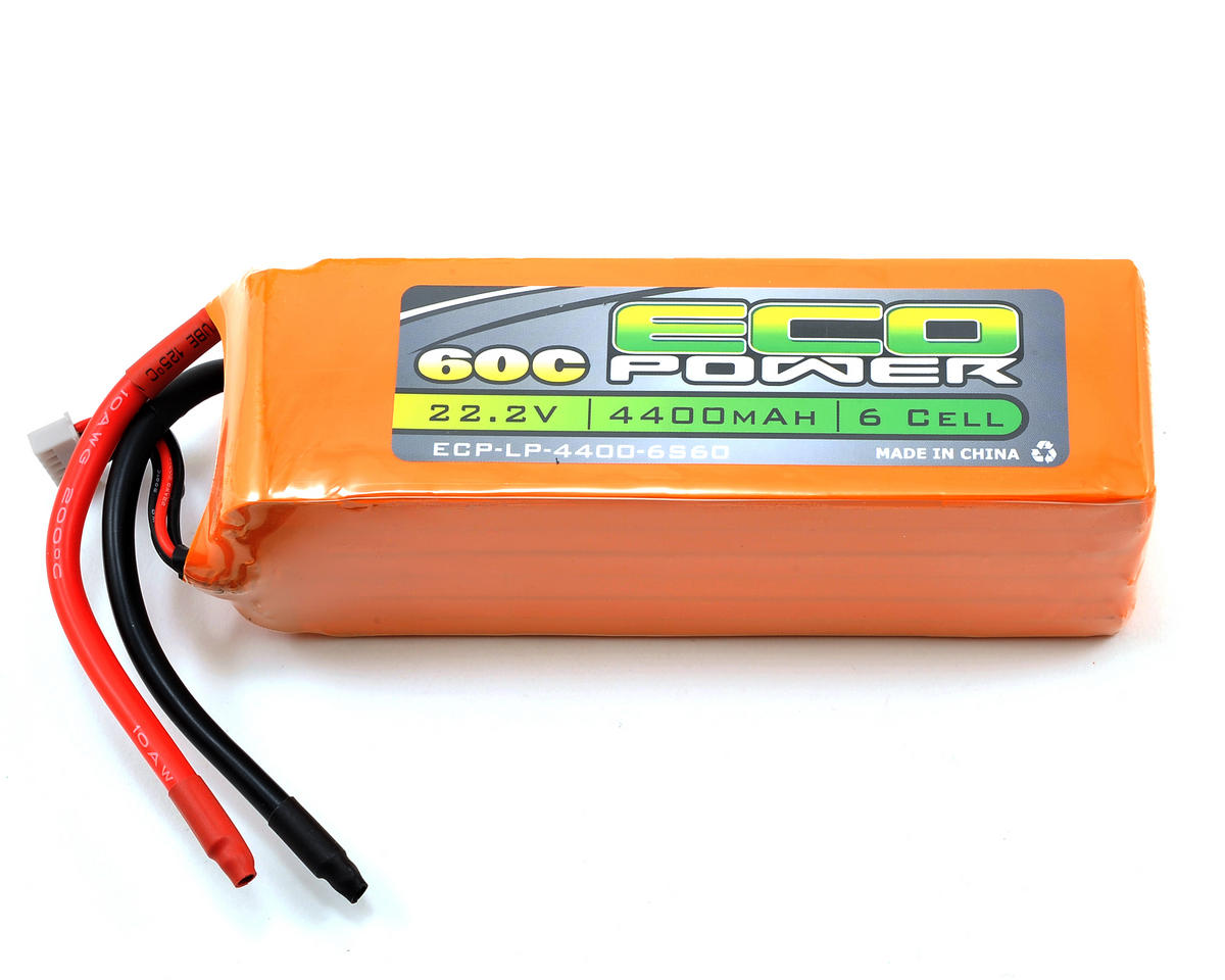 "EcoPower ""Electron"" 6S LiPo 60C Battery Pack (22.2V/4400mAh)"