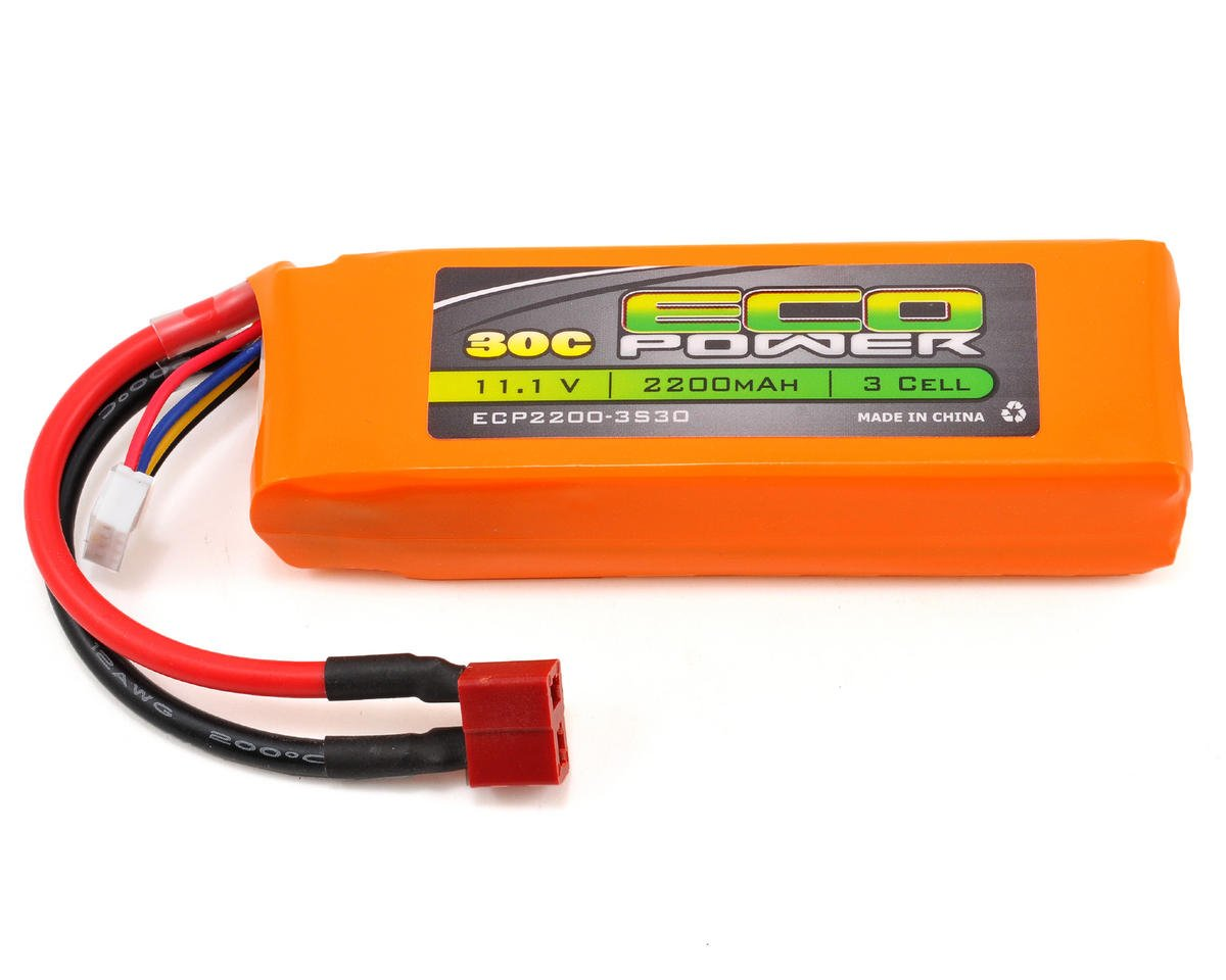 "EcoPower ""Electron"" 3S LiPo 30C Battery Pack (11.1V/2200mAh)"