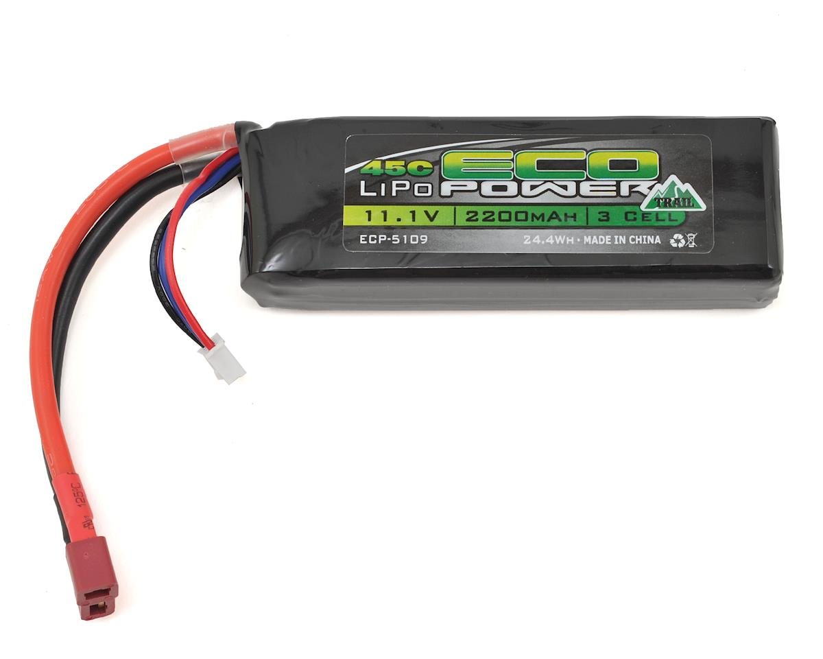"EcoPower ""Trail"" 3S LiPo 45C Battery Pack w/T-Style Connector (11.1V/2200mAh)"