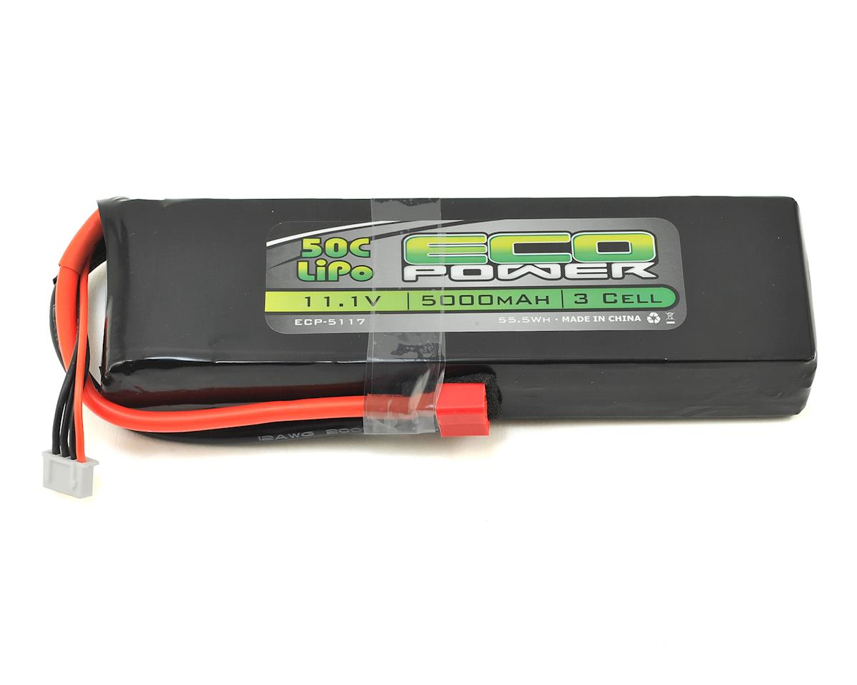 """EcoPower """"Electron"""" 3S LiPo 50C Battery Pack w/T-Style Connector (11.1V/5000mAh)"""