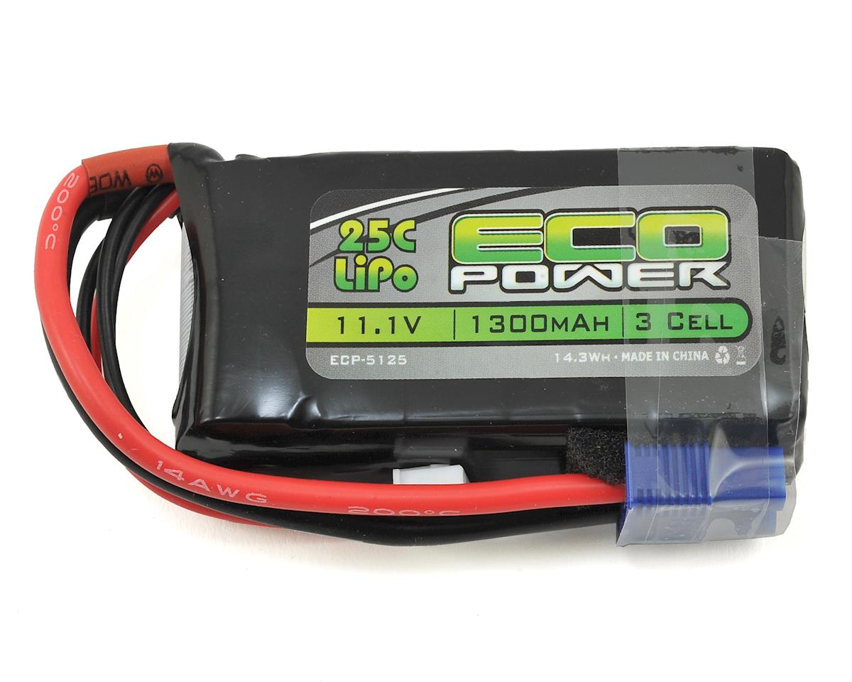 "EcoPower ""Electron"" 3S LiPo 25C Battery Pack w/EC3 Connector (11.1V/1300mAh)"