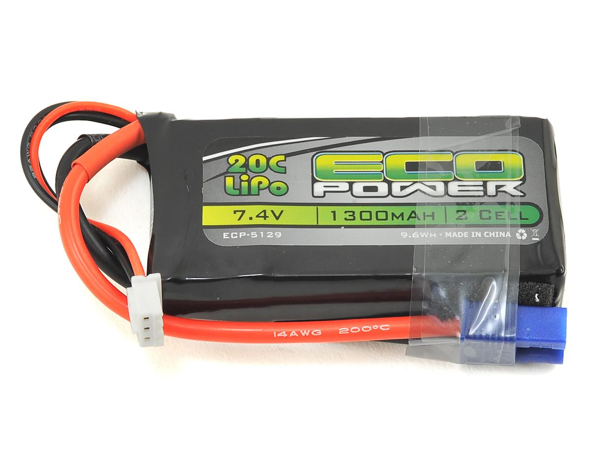 "EcoPower ""Electron"" 2S LiPo 20C Battery (7.4V/1300mAh)"