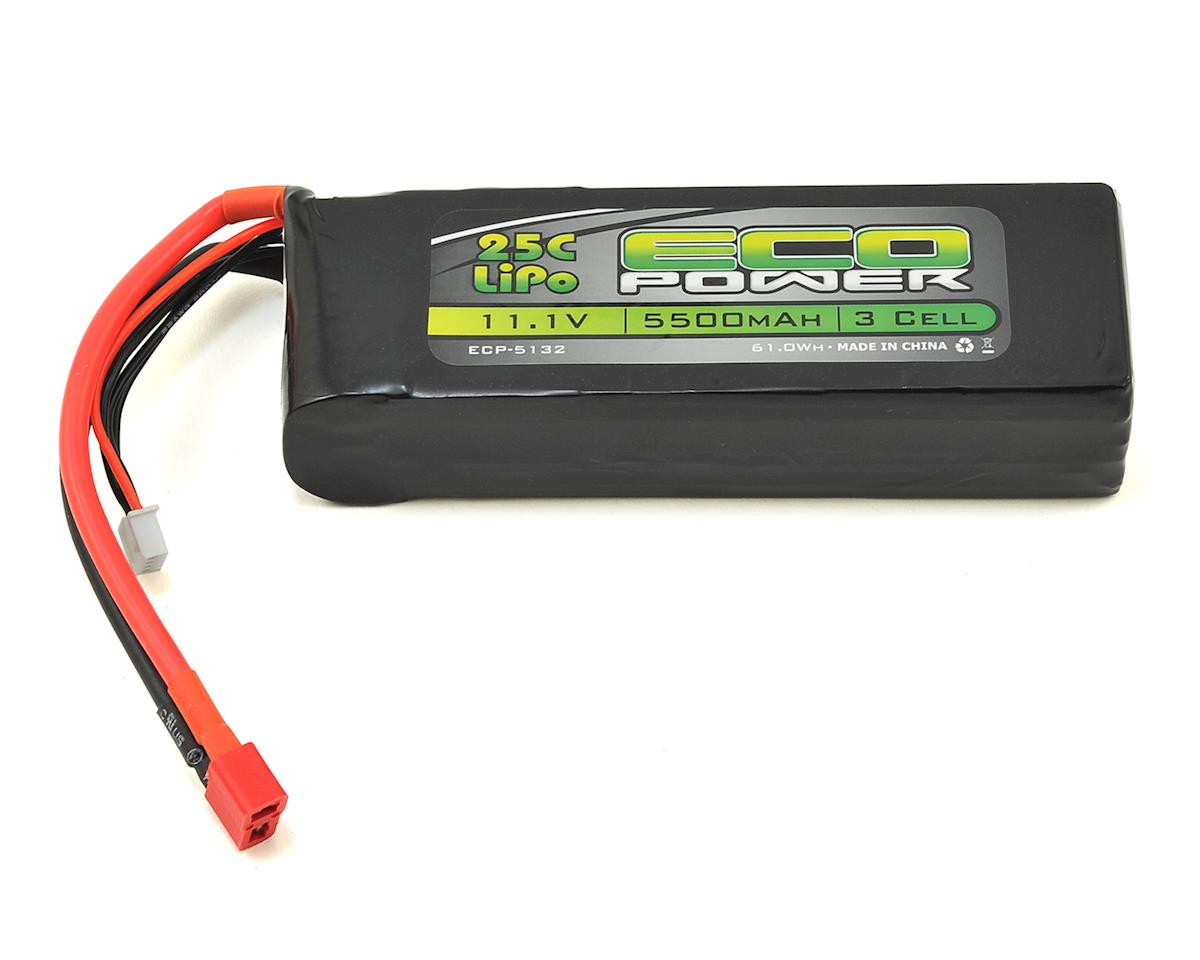 "EcoPower ""Electron"" 3S LiPo 25C Battery Pack w/T-Style Connector (11.1V/5500mAh) (Helion Conquest 10B XLR)"