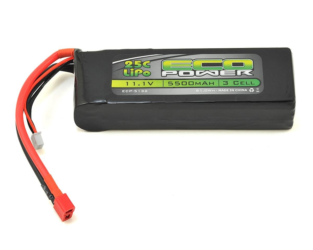 """Electron"" 3S LiPo 25C Battery (11.1V/5500mAh) by EcoPower (Helion Select Four 10SC)"