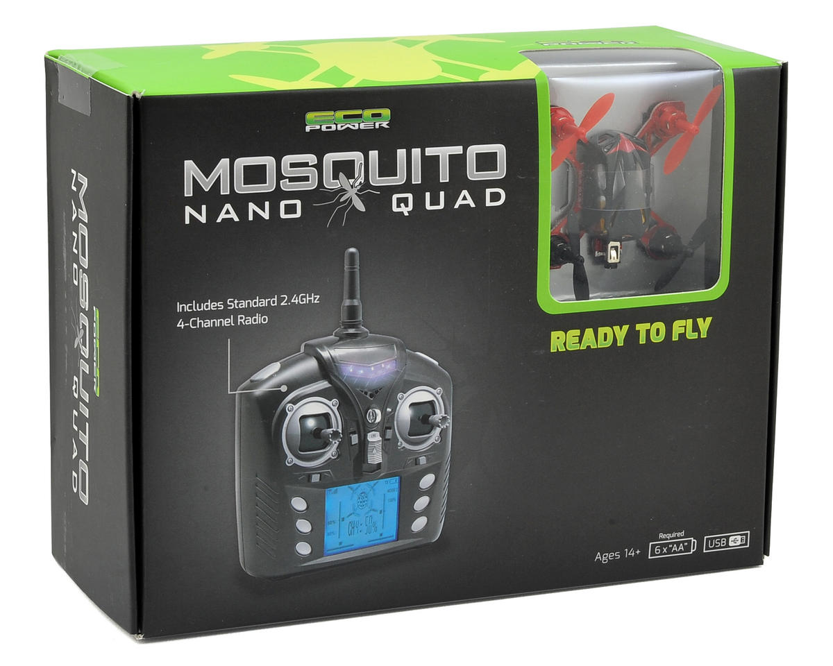 "EcoPower ""Mosquito"" Nano Ready-To-Fly Quadcopter Drone"