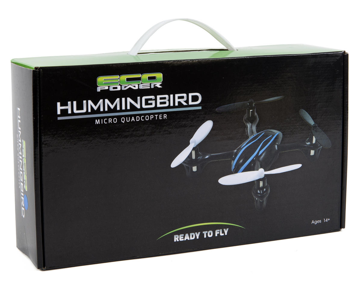"EcoPower ""Hummingbird"" Micro Ready-To-Fly Quad-Copter w/2.4GHz Transmitter & Battery"