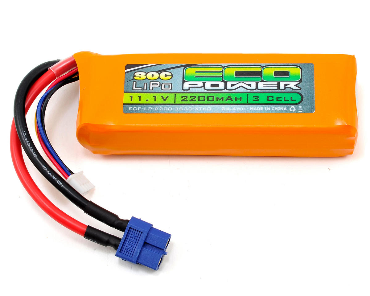 "EcoPower ""Electron"" 3S Li-Poly 30C Battery Pack w/XT60 Connector (11.1V/2200mAh) (DJI Phantom)"