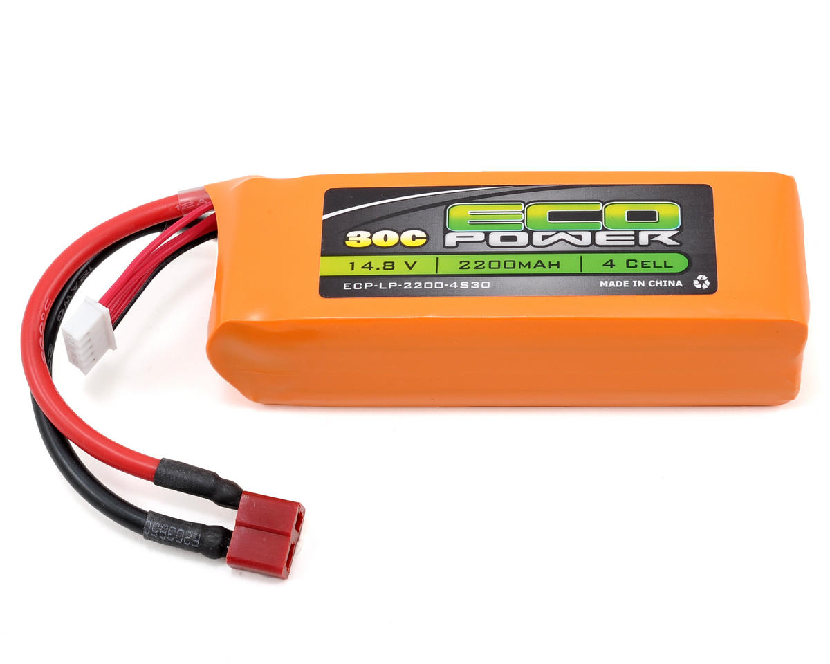 "EcoPower ""Electron"" 4S Li-Poly 30C Battery Pack (14.8V/2200mAh) (Starter Box)"