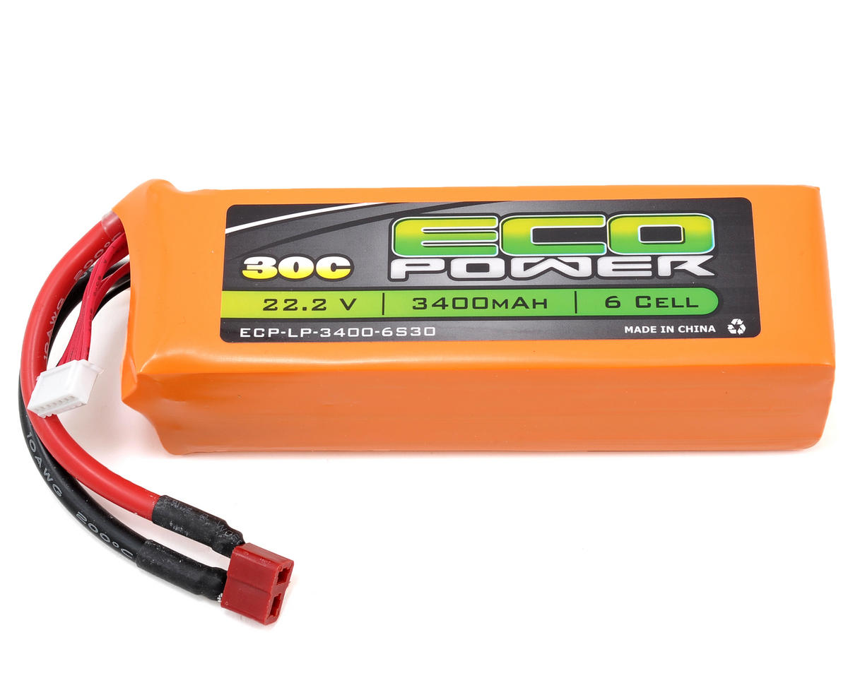 "EcoPower ""Electron"" 6S Li-Poly 30C Battery Pack (22.2V/3400mAh)"