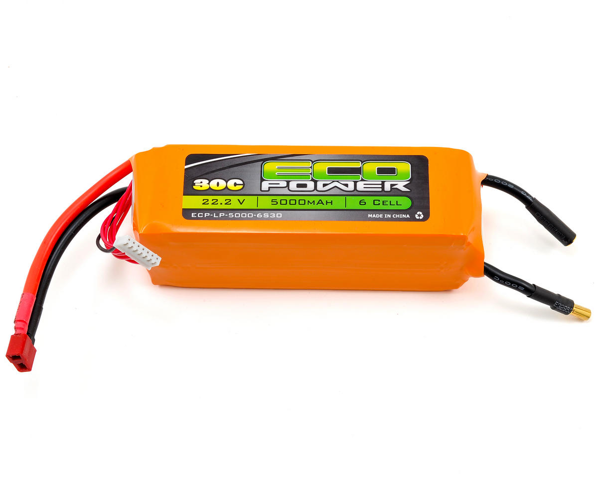 "EcoPower ""Electron"" 6S Li-Poly 30C Battery Pack (22.2V/5000mAh)"