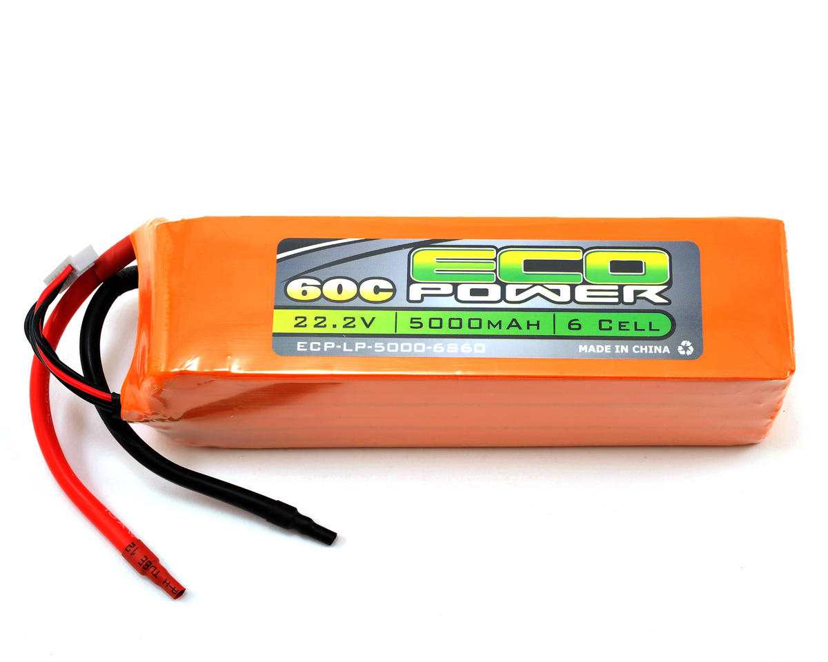 "EcoPower ""Electron"" 6S LiPo 60C Battery Pack (22.2V/5000mAh)"