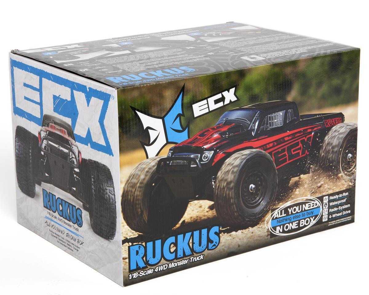 ECX Ruckus 1/18 Monster Truck RTR w/2.4GHz Radio