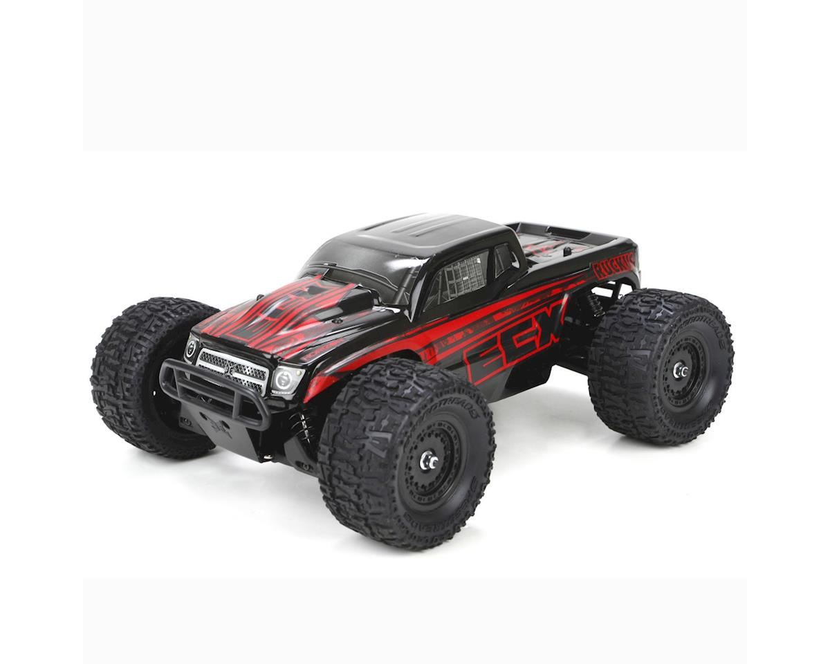 Ruckus 1:18 4WD Monster Truck: Black/Red RTR by ECX
