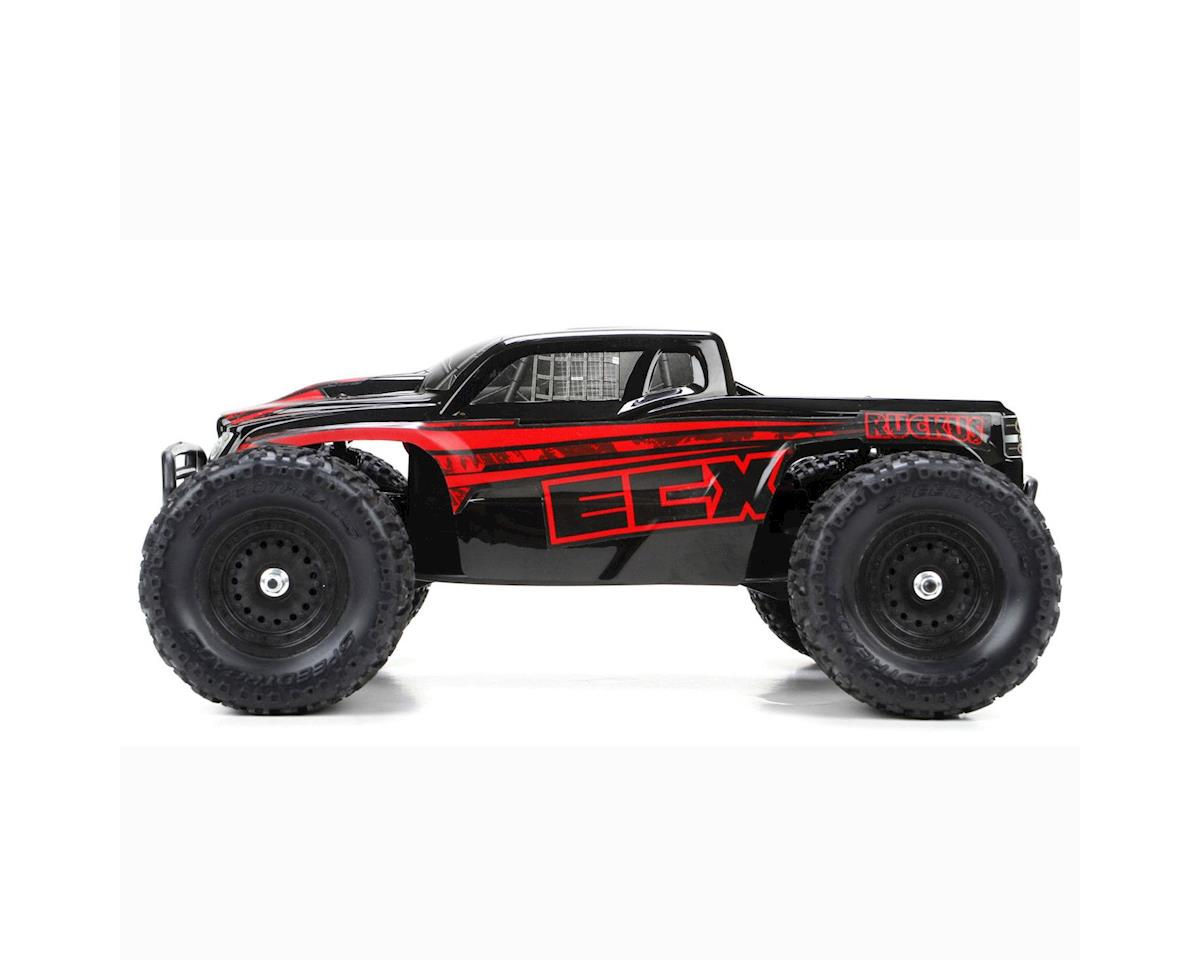 ECX Ruckus 1:18 4WD Monster Truck: Black/Red RTR