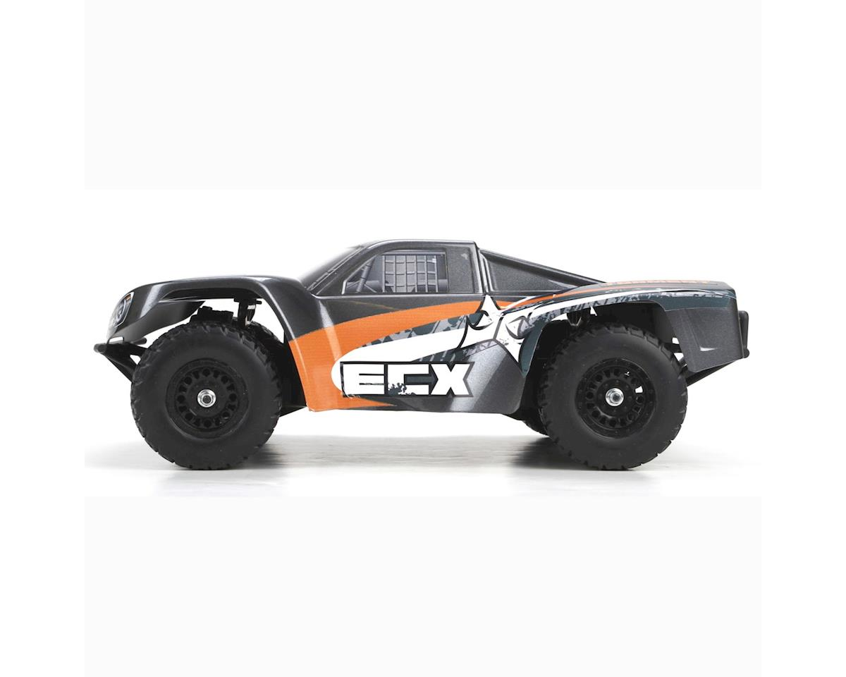 Torment1:18 4WD Short Course Truck:Gray/OrangeRTR by ECX