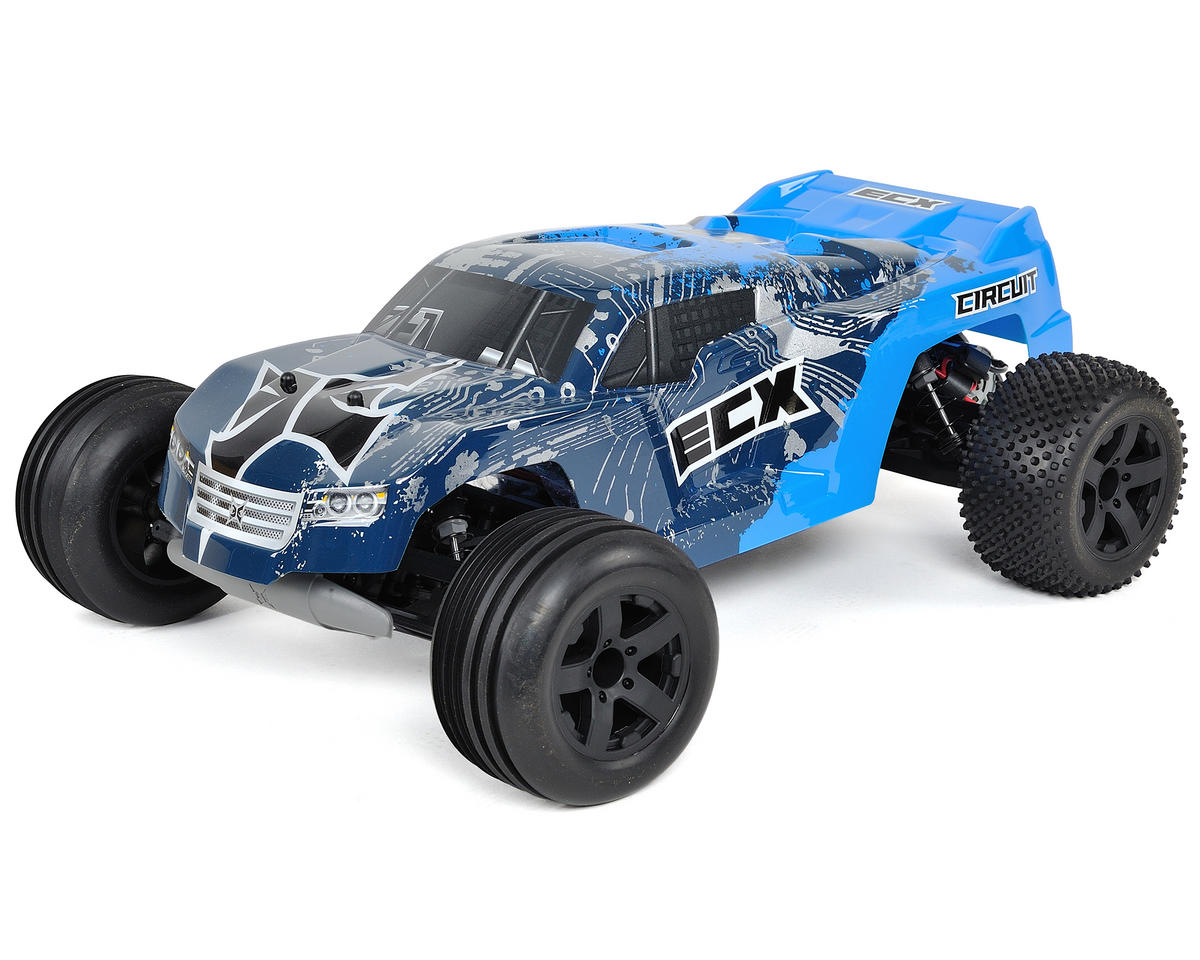 ECX RC Circuit 1/10th Stadium Truck RTR w/DX2E 2.4GHz Radio (Blue/Silver)
