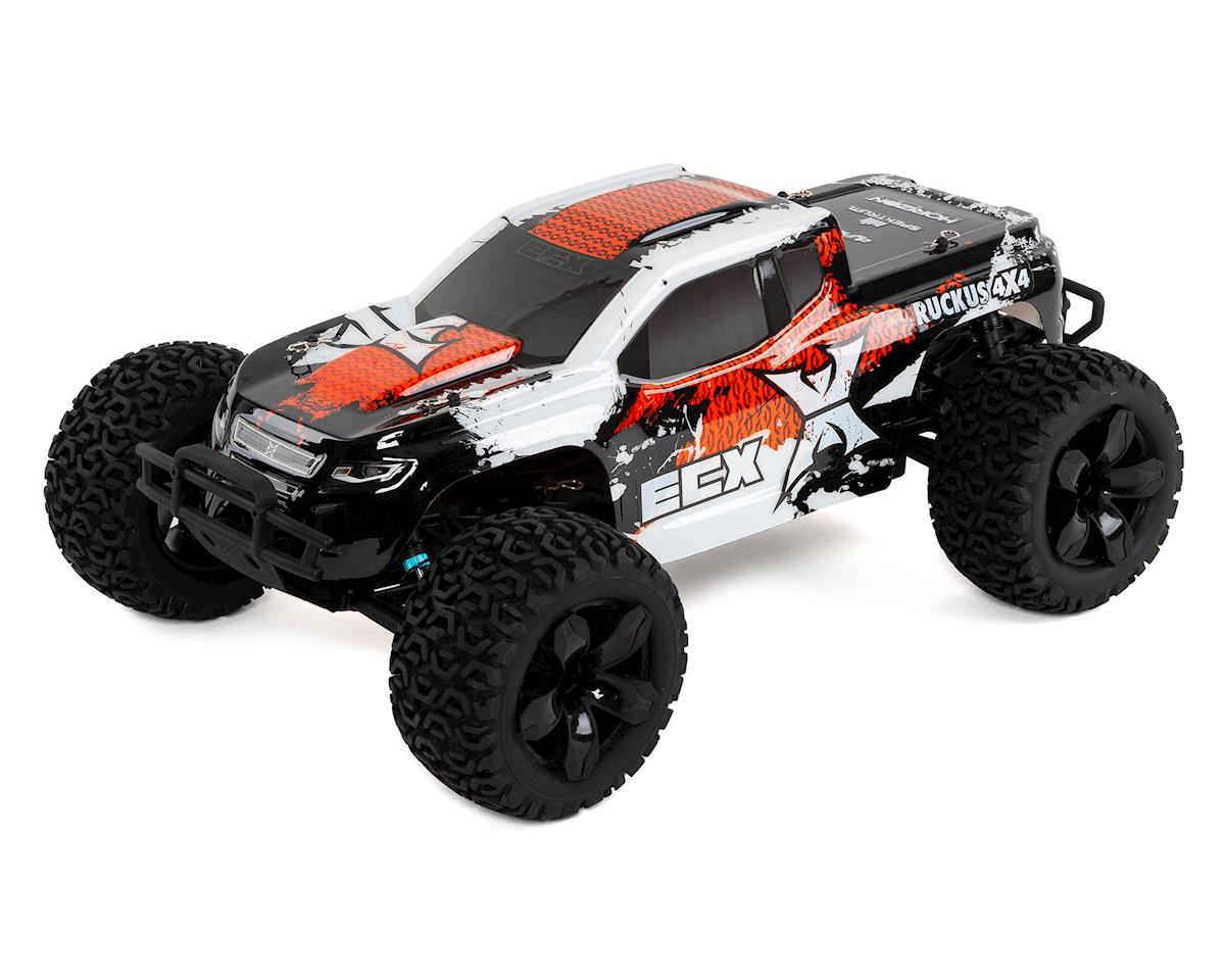 ECX Ruckus 1/10 2WD RTR Electric Monster Truck (Orange/White)