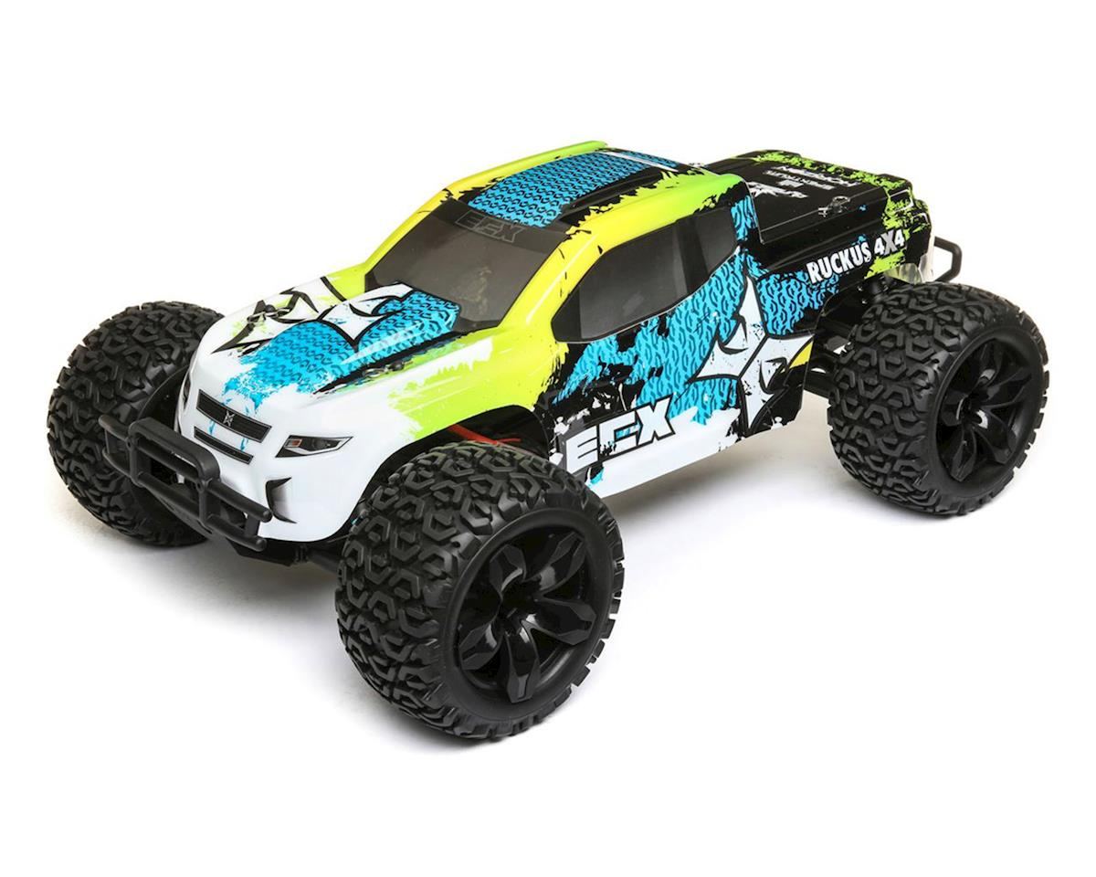 ECX Ruckus 1/10 2WD RTR Electric Monster Truck (Green/Blue)