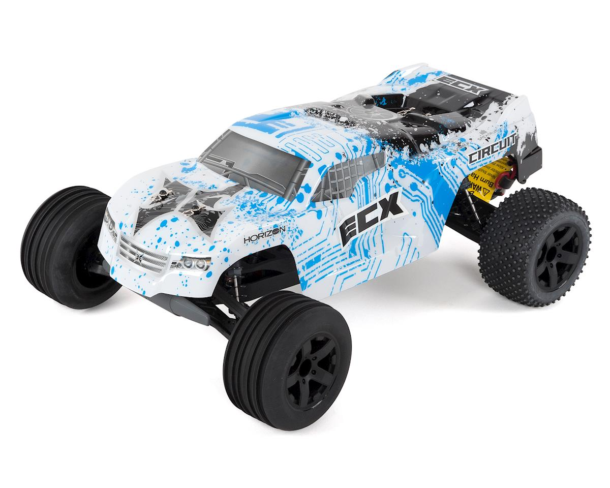 ECX Circuit 1/10 RTR 2WD Electric Stadium Truck (White/Blue)