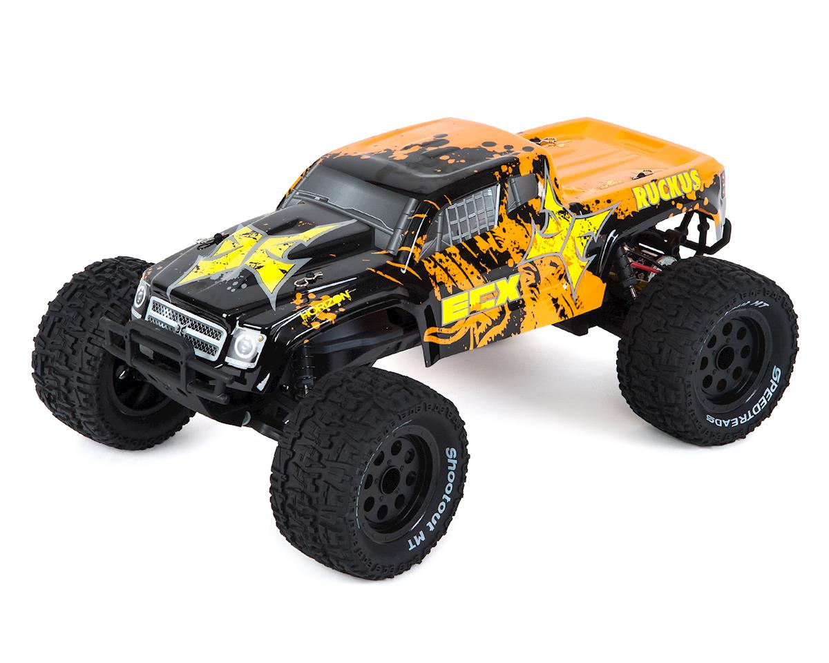 ECX Ruckus 1/10 2WD RTR Electric Monster Truck (Black/Orange)