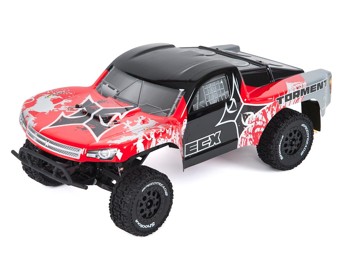 Torment 1/10 RTR 2WD Electric Short Course Truck (Red/Silver)