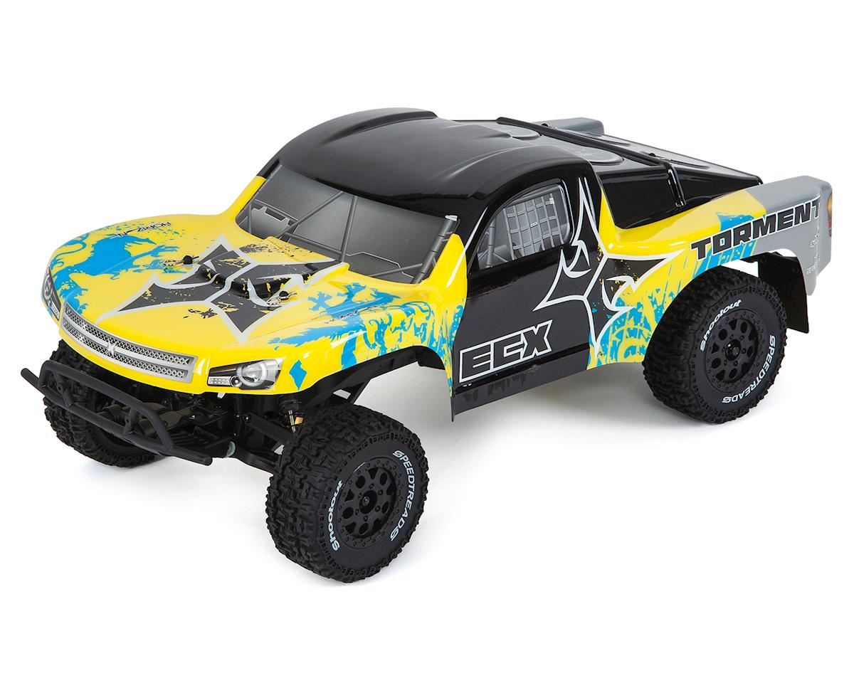 Torment 1/10 RTR 2WD Electric Short Course Truck (Yellow/Blue)