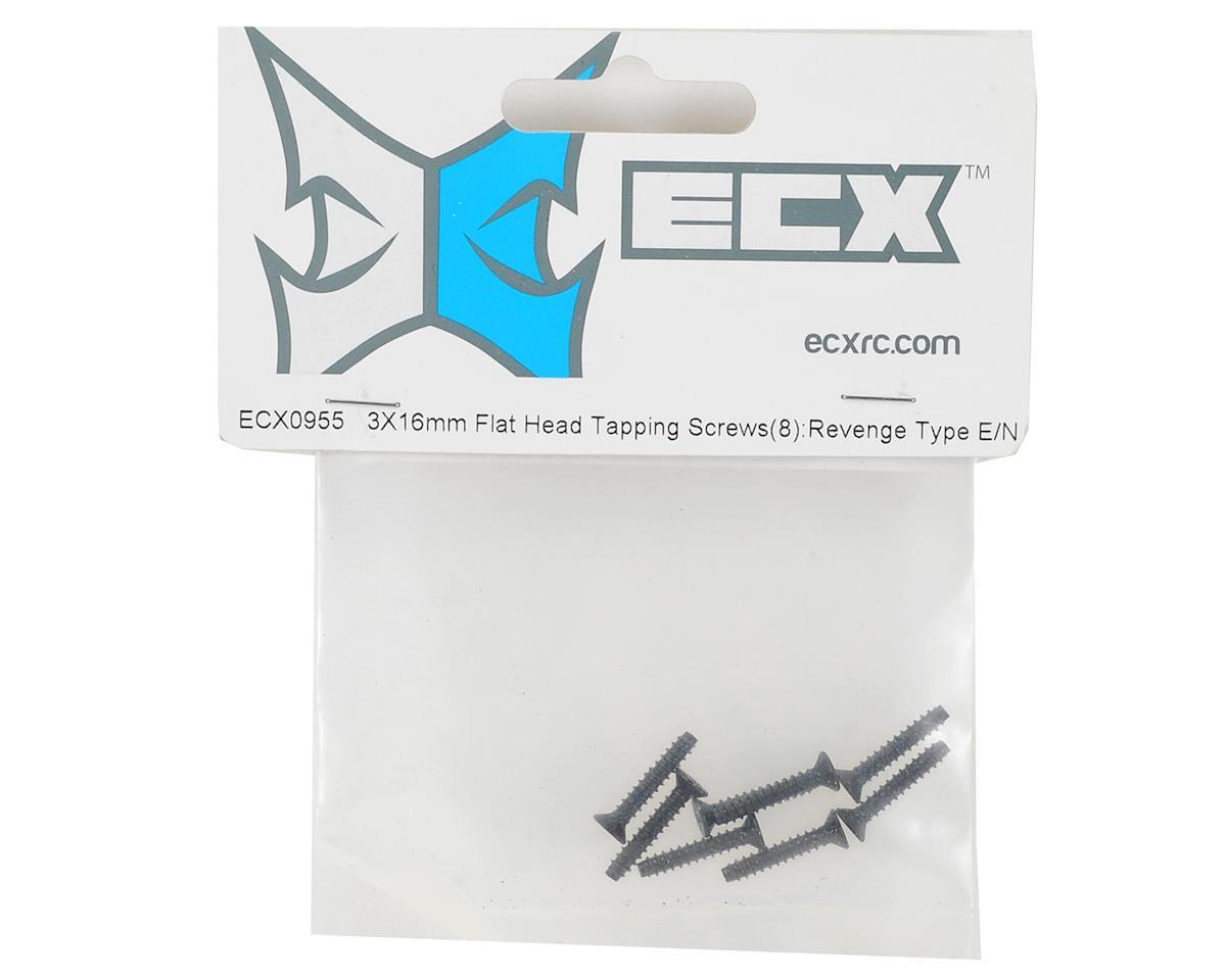 ECX RC 3x16mm Flat Head Tapping Screw (Phillips) (8)