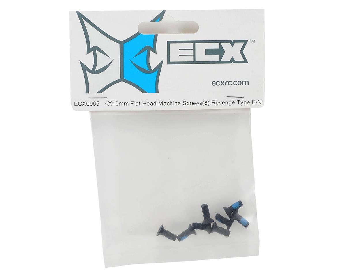 ECX RC 4x10mm Flat Head Phillips Screw (8)