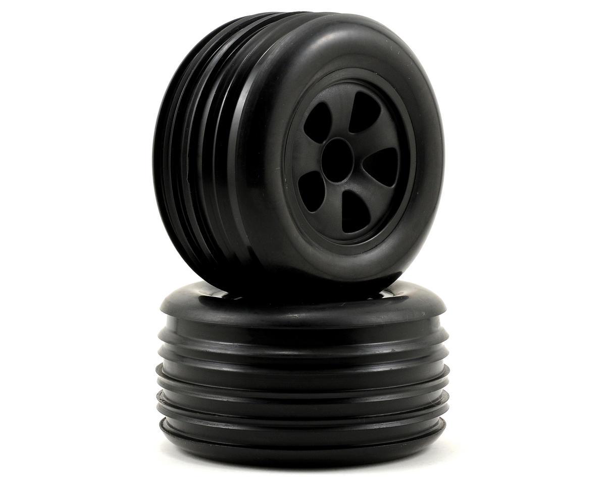 ECX RC Rib Pre-Mounted Front Tire Set (Black) (2)