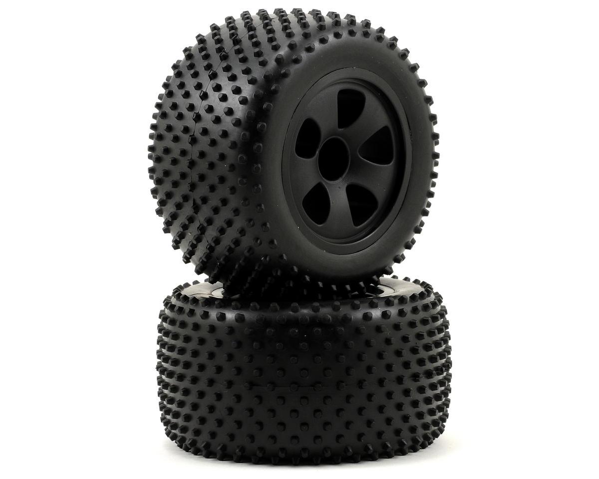 ECX RC Spike Pre-Mounted Rear Tire Set (Black) (2)