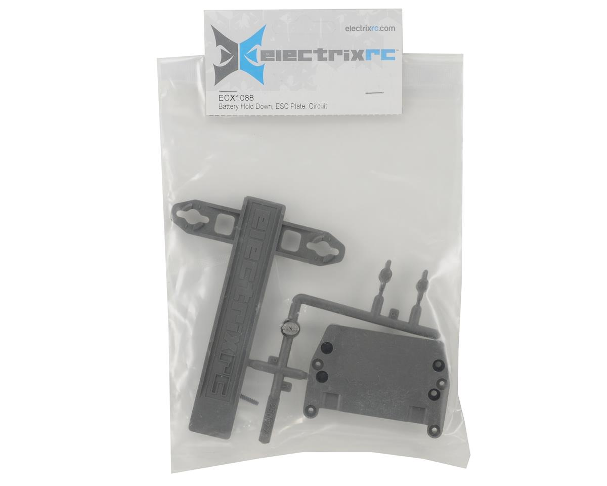 RC Battery Hold Down & ESC Plate Set by ECX