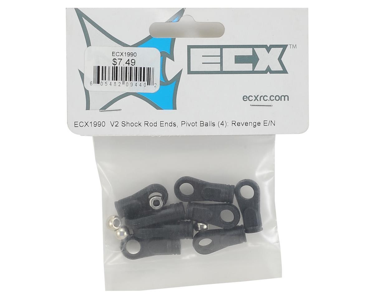 ECX V2 Shock Rod End & Pivot Ball Set (4)