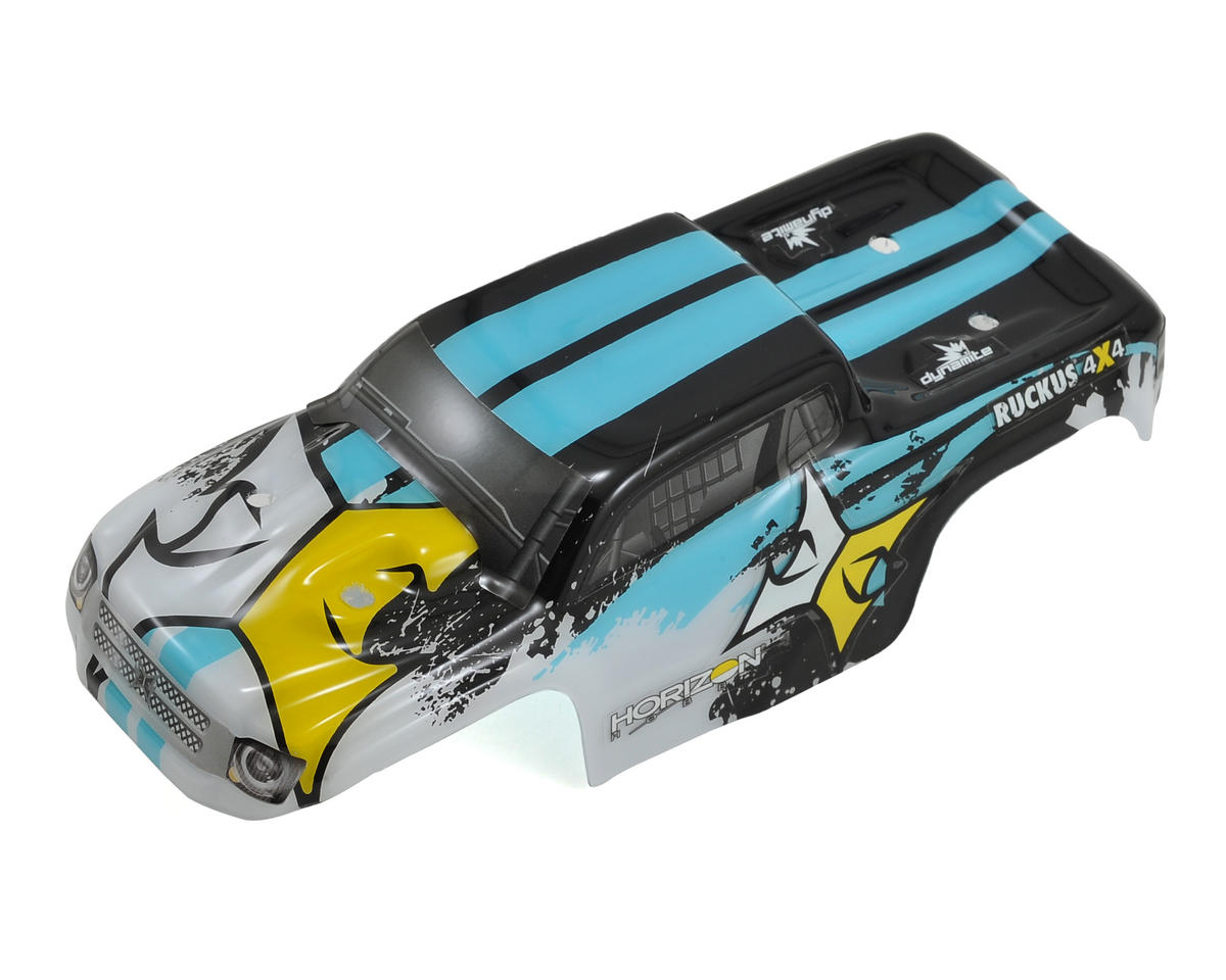 ECX Ruckus Per-Painted Body Set (Black/White)