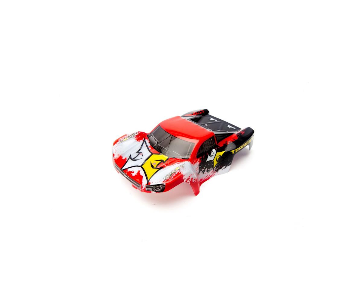 ECX Body Set, Decorated, Blk/Red: 1:24 Torment