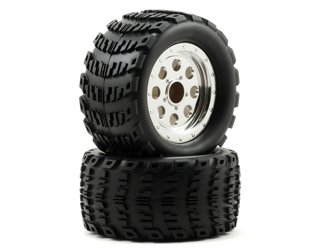 ECX RC Pre-Mounted Ruckus Wheel/Tire Set (2)