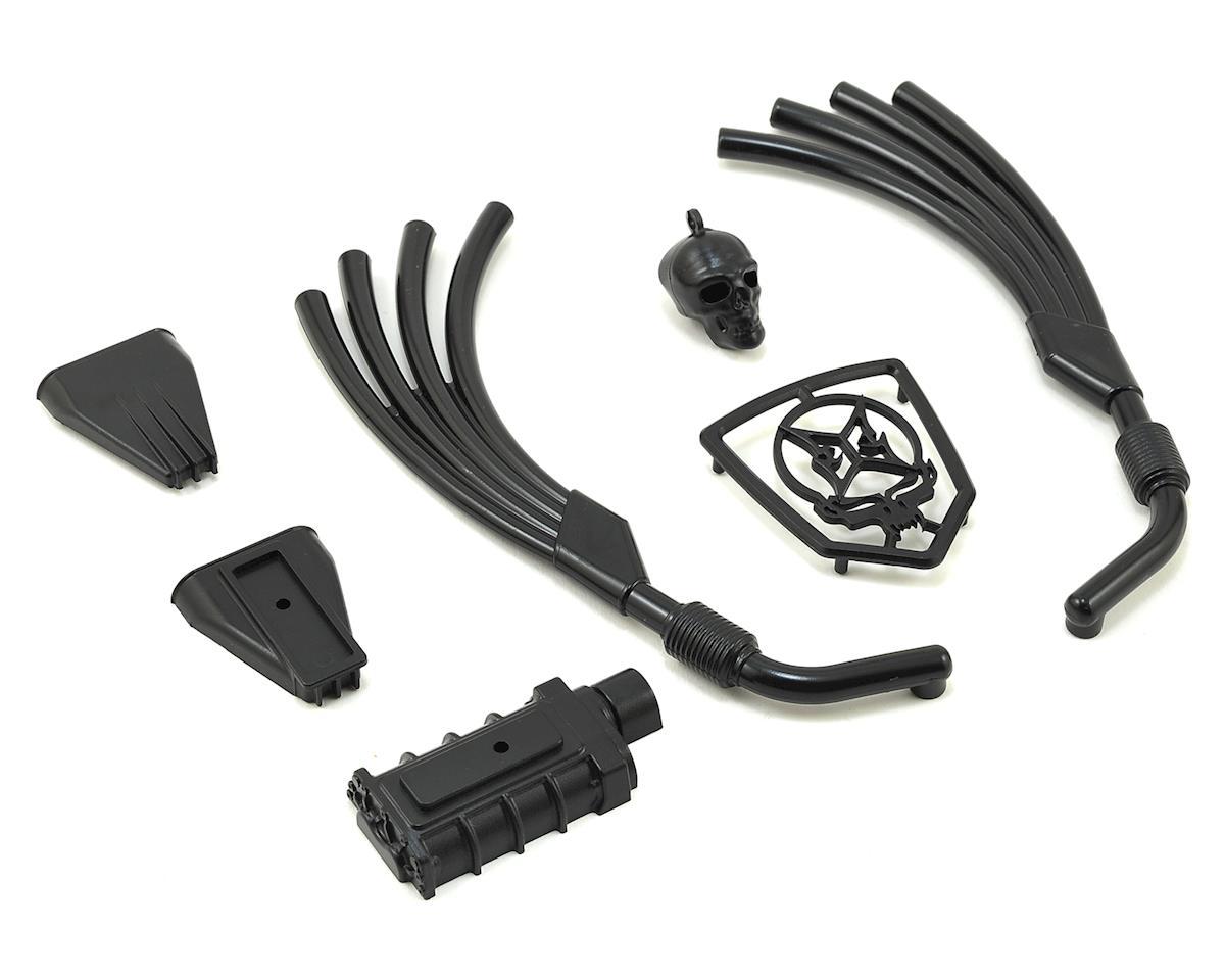 ECX Barrage Doomsday Motor, Exhaust & Grill Parts Set (Black)