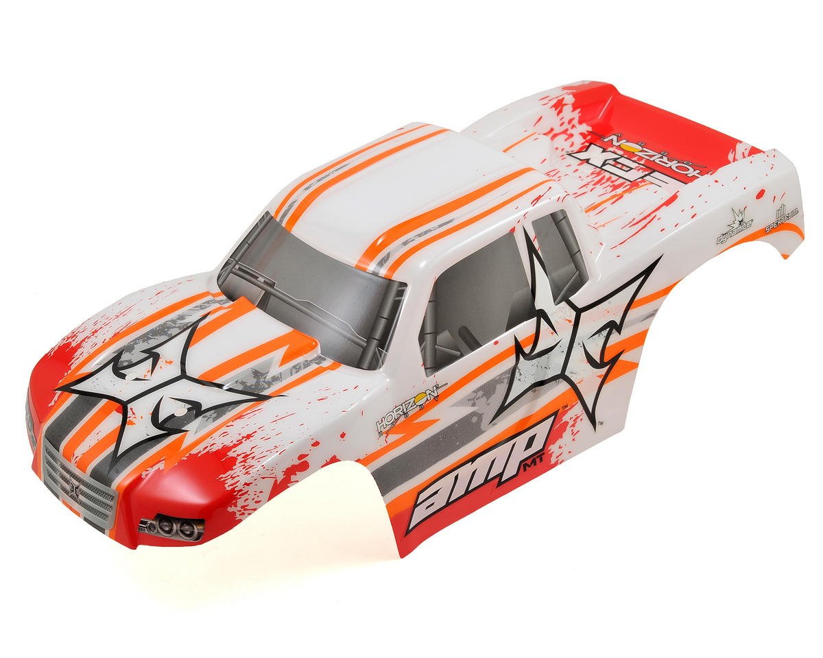 ECX AMP Monster Truck Body (White/Orange)