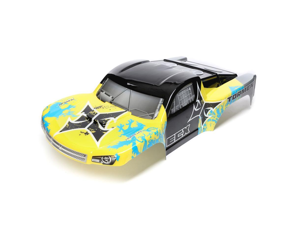 ECX Body, Yellow/Blue: 1/10 2wd/4wd Torment