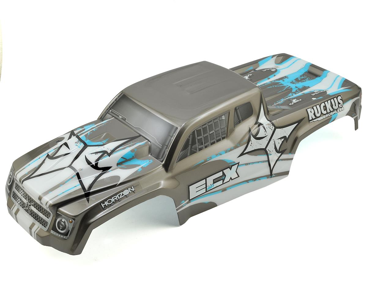 ECX Ruckus 2WD/4WD 1/10 Pre-Painted Truck Body (Gunmetal/Blue)